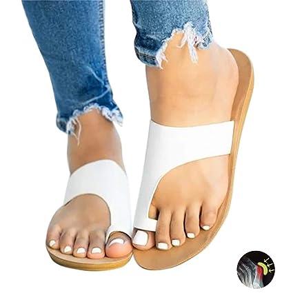TTW Mujer Zapatilla de Verano corrección Reducen el Dolor de juanetes, Sandalia de cuña de