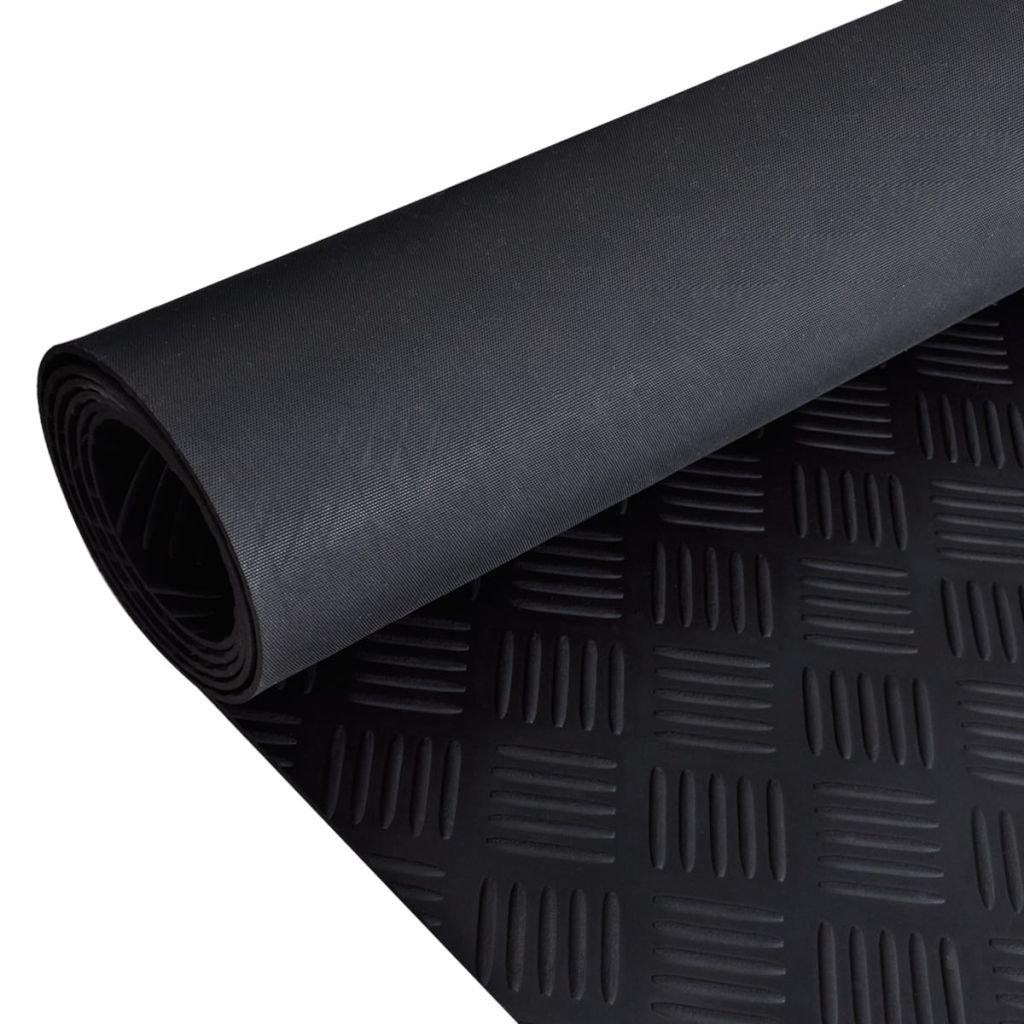 vidaXL Anti-Slip Rubber Safety Floor Mats Checker Runner Door Rug Home Carpet 7' x 3'