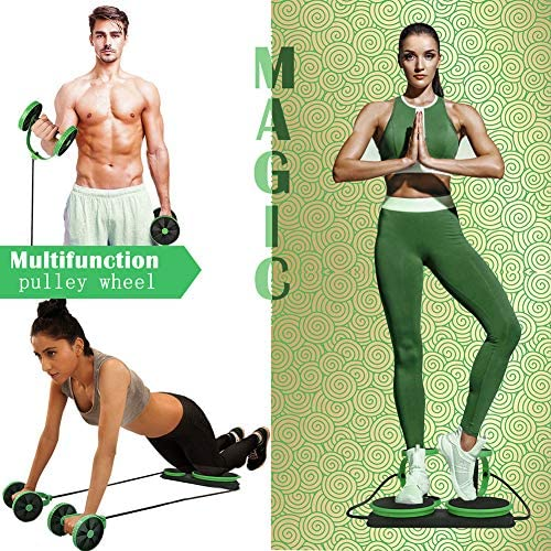 MACUNIN Multi Function Double Ab Roller Wheel,New Version Ab Wheel,Exercise and Fitness Wheel for Home Gym,Abdomen and Arm Workout Equipment Waist Slimming Trainer for Man and Women 4
