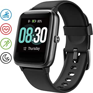 UMIDIGI Smart Watch, Fitness Tracker with Heart Rate Monitor, Activity Tracker for Android Phone, 5ATM Waterproof Pedometer Smartwatch with Sleep Monitor, Step Counter for Women and Men-Uwatch3(black)