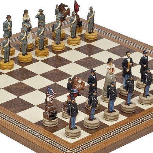 割引クーポン 手描きAmerican Civil War Fulton Chessmen & Fulton Streetチェスボードfrom 手描きAmerican Spain Chessmen。 B00E3QGGCI, ウェディングベールVive la mariee:f5890108 --- cliente.opweb0005.servidorwebfacil.com