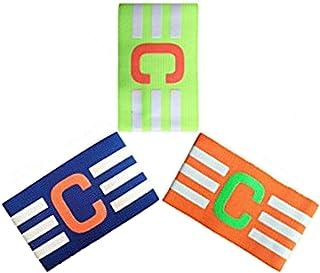 ADESUGATA Soccer Captain Armband,Football élastique Brassard, Velcro pour Taille réglable, Convient pour de Multiples Sports Y Compris de Football et de Rugby