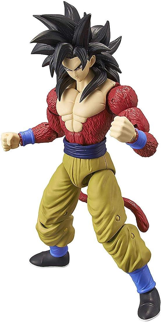 Statuetta dragon ball stars action figure bandai - super saiyan 4 goku - 17 cm 36180