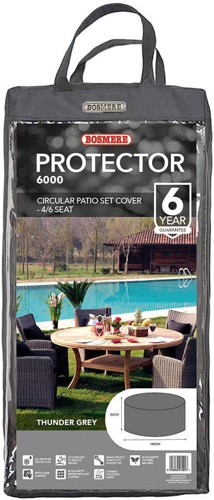Green C520 Bosmere Protector 6000 Dark Green 4-6 Seat Circular Patio Set Cover