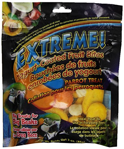 F.M.Brown'S 55000 Extreme Yogurt-Covered Fruit Bites Parrot And Macaw Treat, 3-Ounce (Treats Yogurt Dips)