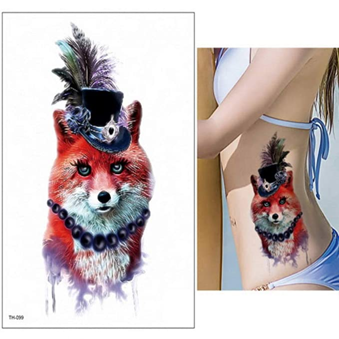 3pcs-Tattoo y Body Art Alces Tatuaje Color Agua Tatuaje Busto ...