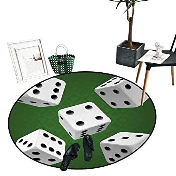 Amazon.com: Modern Round Rugs Bedroom Casino Gamble Rolling ...