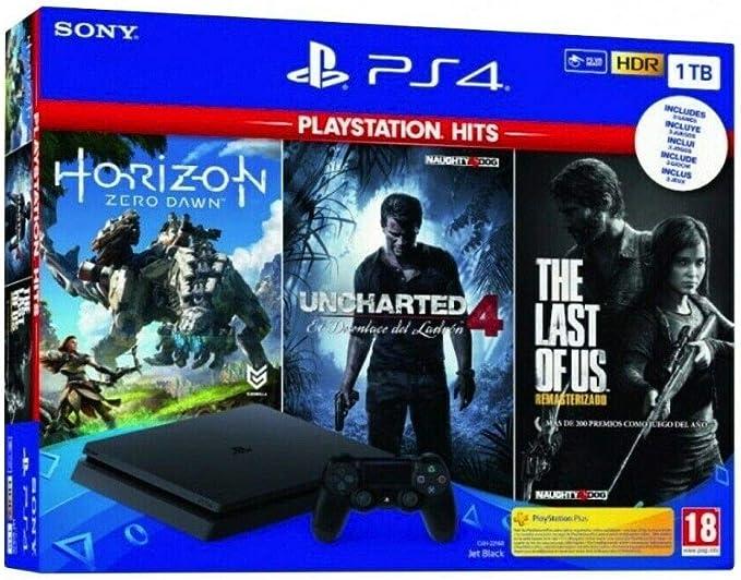 Pack: Sony PS4 Slim 1TB + Horizon Zero Dawn + Uncharted 4 + The ...