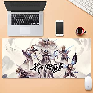 Waterproof Large Esports Gaming Extension Computer Keyboard Mouse Pad Wear-Resistant Desk Mat Stitch Edge Wear-Resistant Rubber Base 30x80cm QYSZYG (Color : B, Size : 4mm)