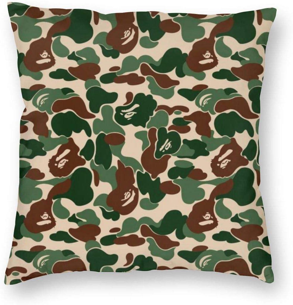 Amazon Com Antcreptson Aniaml Bape Camouflage Green Throw Pillow Decorative Pillow Case Home Decor Square 18x18 Inches Pillowcase Home Kitchen