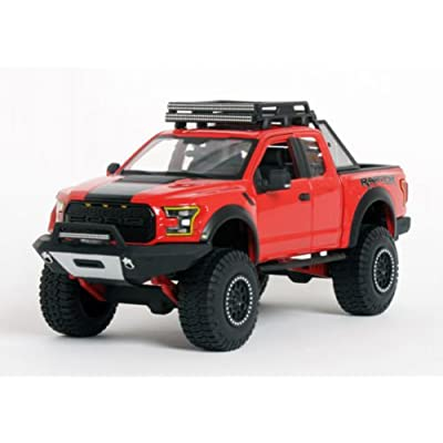 Ford 2020 F-150 Raptor Pickup Truck Red Off Road Kings 1/24 by Maisto 32521: Toys & Games