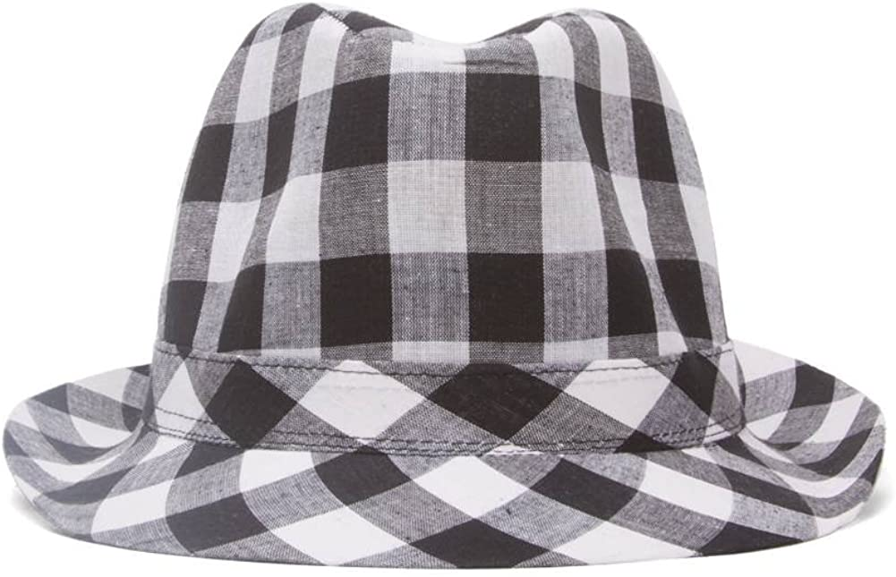 Plaid Trilby Fedora Hat