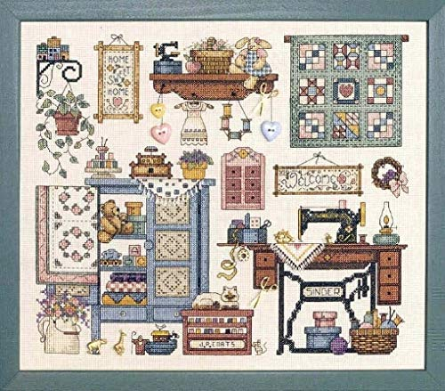 Cross Stitch - Top Quality Beautiful Lovely Counted Cross Stitch Kit Sew Cozy Sewing Room Machine