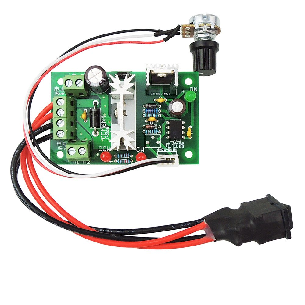uniquegoods 6V 12V 24V 6A DC Motor Speed Governor Adjustable Reversible  Switch PWM 200W Variable Speed Control reversing - CCM6N - - Amazon.com