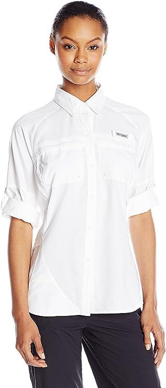 Columbia Camisa de manga larga para mujer de Airgal, medio, blanca: Amazon.es: Ropa y accesorios