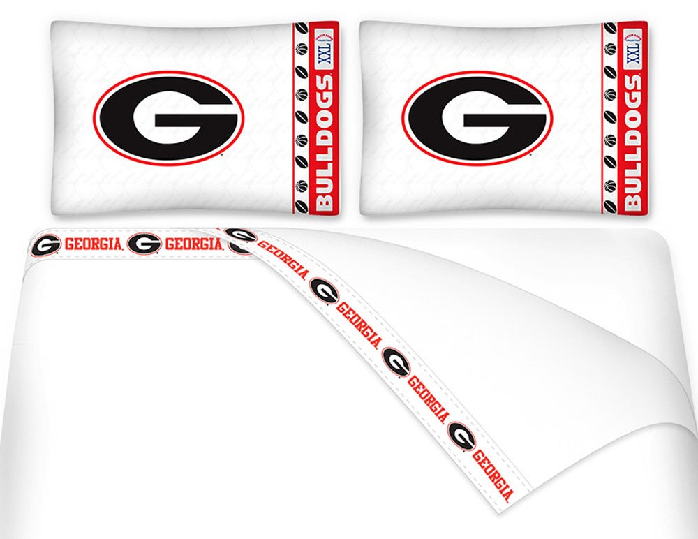 NCAA Georgia Bulldogs - 5pc BED IN A BAG - Queen Bedding Set by store51 (Image #1)