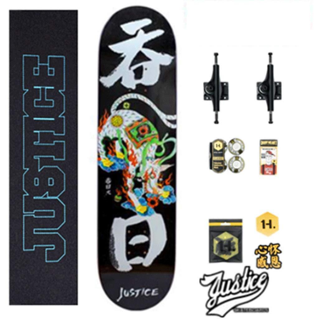 Street Skateboard Short Board Professionelles bilaterales geneigtes Skateboard Skateboard Skateboard Montageboard Anfänger Erwachsene Kinder Jungen und Mädchen B07PVVKLKX Longboards Billiger als der Preis 2fc118