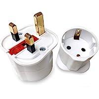 EU naar UK adapter euro stopcontact 2 Pin naar 13 Amp 3 pin stekker type C naar type G | international universal europe…