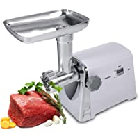 Haofy- Household Meat Grinder Electric, Electric 1600W Industrial Meat Grinder Mincer Sausage Maker Machine w/ 3 Cutting for Tray Grinding Plates & Stuffing Tubes Stomper Storage Box