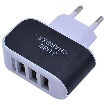 REFURBISHHOUSE Disparo 3.1A Cargador USB Adaptador de CA/Cargador/Enchufe de la UE Negro