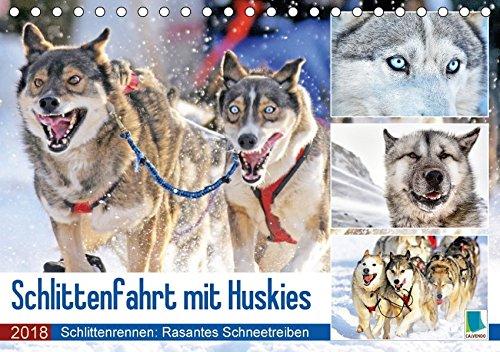Schlittenfahrt mit Huskys (Tischkalender 2018 DIN A5 quer): Hunde-Schlittenfahrt: Rasantes Schneetreiben (Monatskalender, 14 Seiten ) (CALVENDO Orte) [Kalender] [Apr 16, 2017] CALVENDO, k.A.