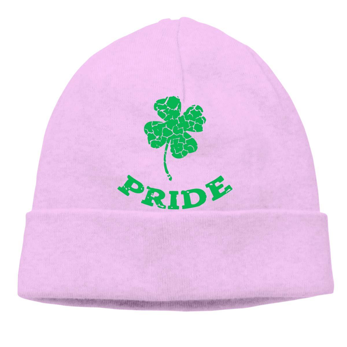 BBlooobow Men Women Irish Shamrock Pride Soft Skull Cap