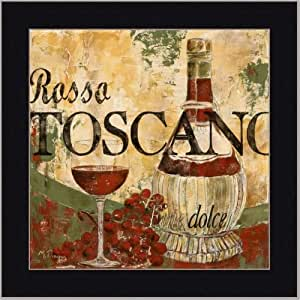wine tuscan italian dining room decor art print framed