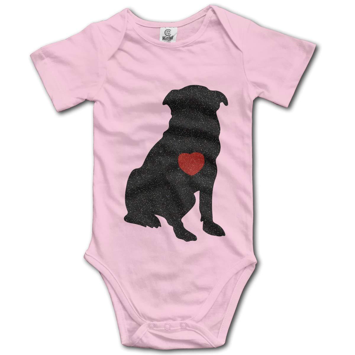 XHX Newborn Baby Dog Heart Short Sleeve Romper Onesie Bodysuit Jumpsuit