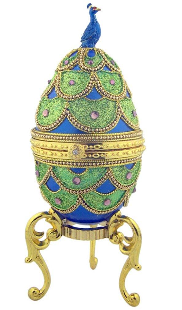 売上実績NO.1 Pretty Pretty As AピーコックブルーEnameled純正Goose Egg Egg Musicalジュエリーボックス As B00NI0HAY8, ゴルフ観音さま:dde28908 --- arcego.dominiotemporario.com