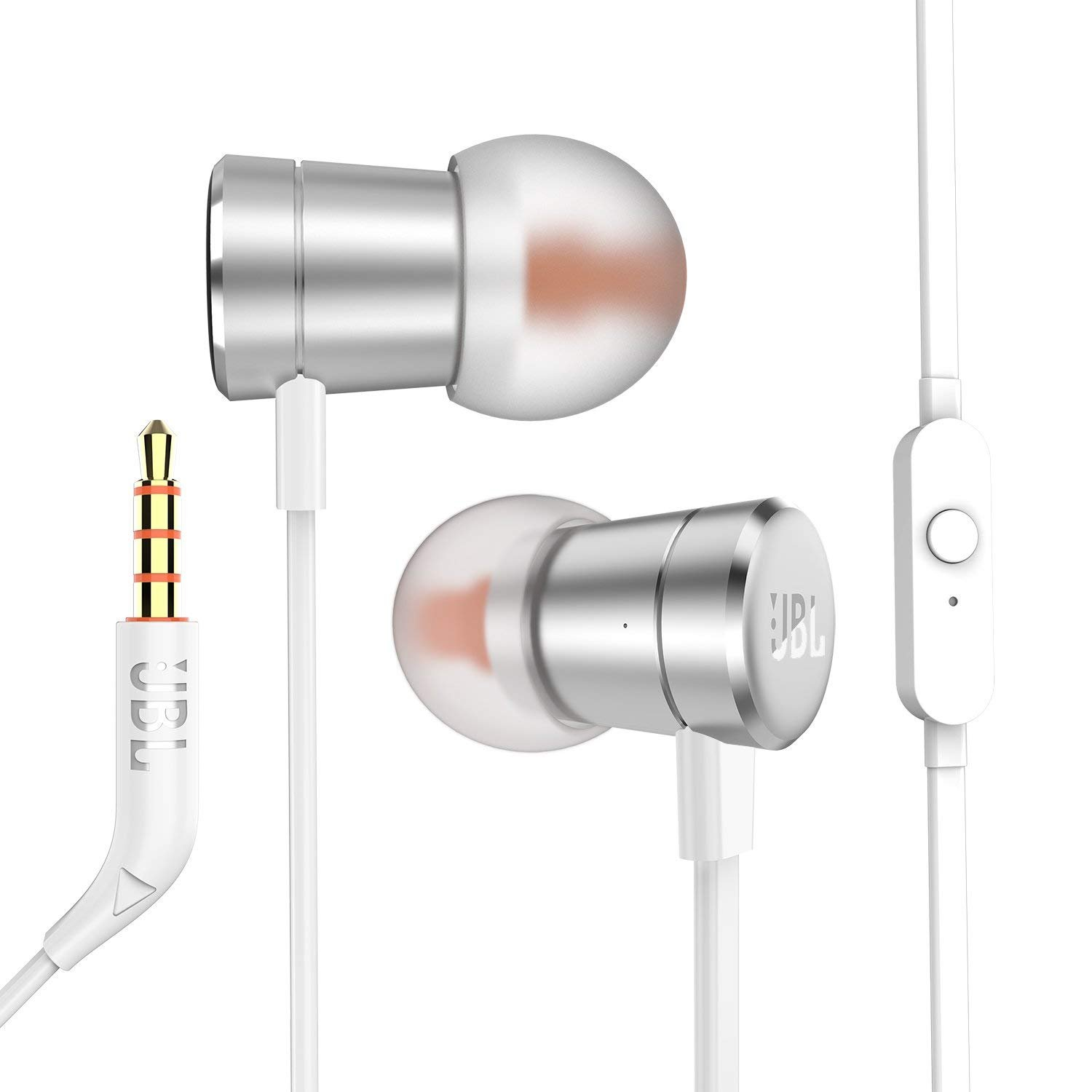 Amazon.com: JBL In-Ear Headphones Pure Bass T290 High Performance with Universal 1 button remote/mic Gold: Electronics