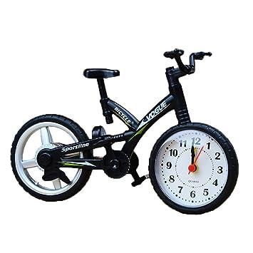 jarown creative artistic retro bike model desk clock for office home bedside decotation black