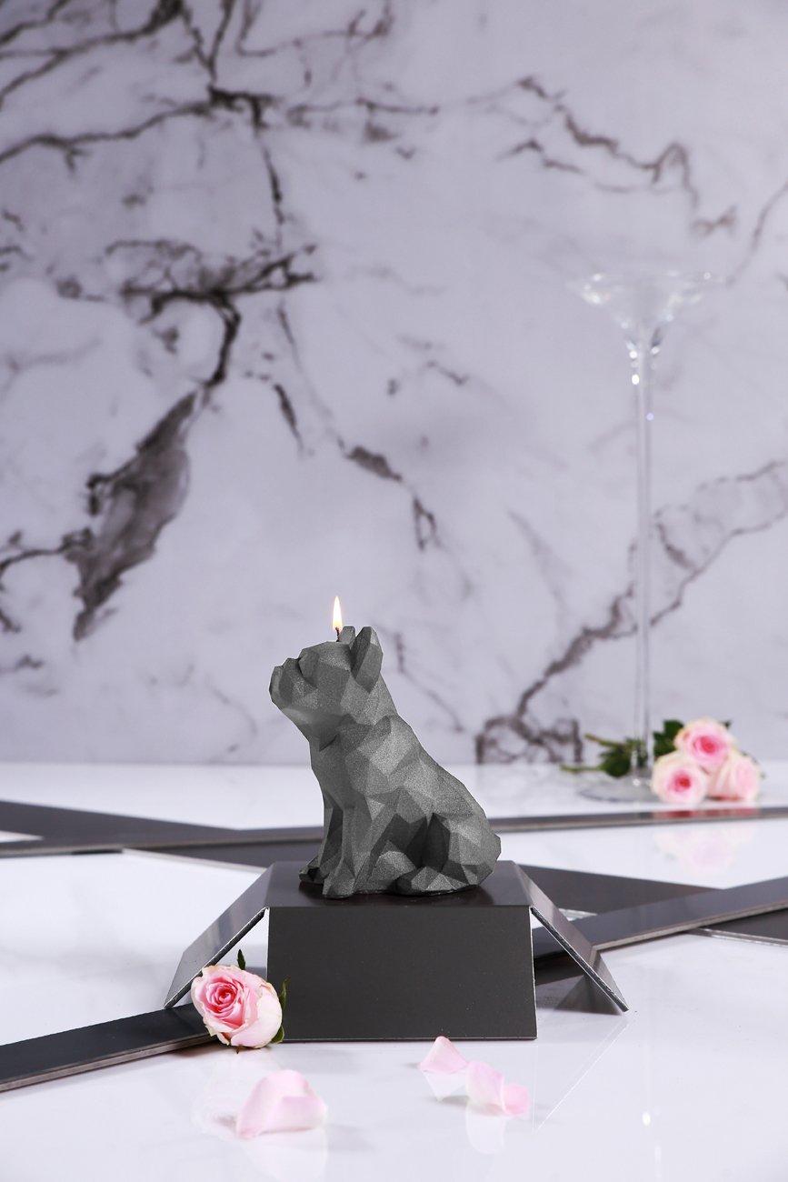 Candellana Candles Candellana- Bulldog Poly Candle-Gray Large by Candellana Candles (Image #3)