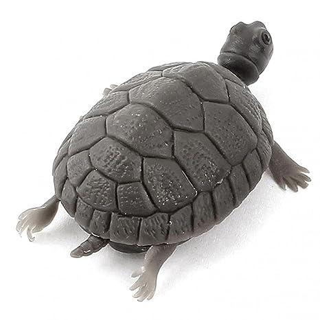 Bruselas08 Lifelike - Figura decorativa para acuario, diseño de tortuga de tortuga falsa en 3D