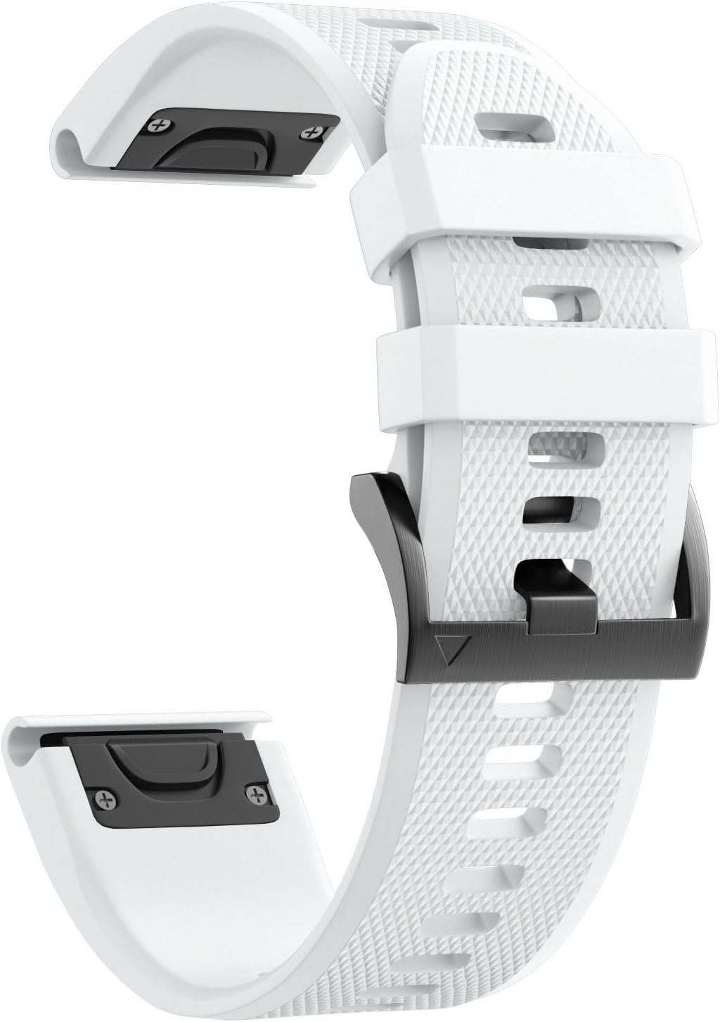 NotoCity Garmin Fenix 5X Banda Fácil de Ajuste 26 mm Ancho Suave Silicona Correa de Reloj para Garmin Fenix 5X/Fenix 3/Fenix 3 HR