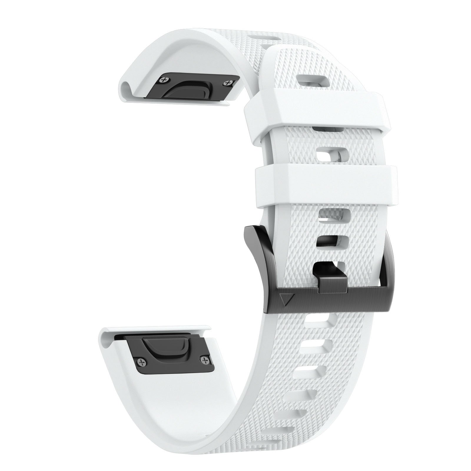 ANCOOL Compatible with Fenix 5 Band Easy Fit 22mm Width Soft Silicone Watch Strap Replacement for Fenix 5/Fenix 5 Plus/Forerunner 935/Approach S60/Quatix 5- White by ANCOOL