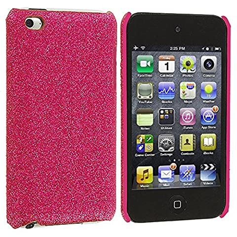 iPod Touch 4th Generation Case, TechSpec(TM) Pink Glitter Case Cover for Apple iPod Touch 4th (Sparkly Girls Ipod 4 Cases)
