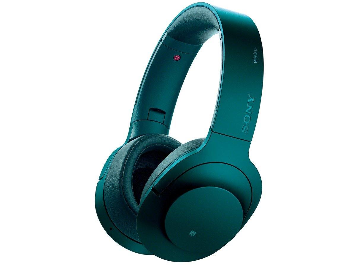 Sony H.ear on Wireless Noise Cancelling Headphone, Viridian Blue (MDR100ABN/L) by Sony