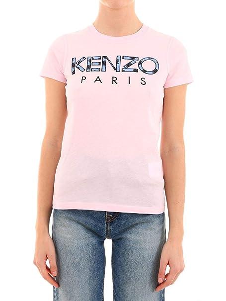 Kenzo Mujer F952TS72199033 Rosa Algodon T-Shirt: Amazon.es ...