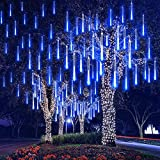 Year 30cm Outdoor Meteor Shower Rain 8 Tubes LED String Lights Waterproof for Christmas Party Decoration