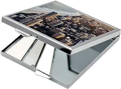 مرآة جيب، بتصميم لوحة فنية ، شكل مربع