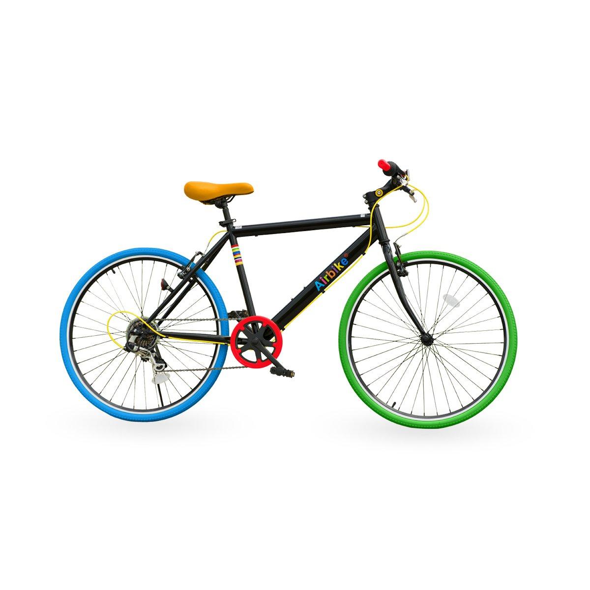 Airbike クロスバイク 自転車 26インチタイヤ シマノ7段変速 B01JING3V4 ブラック×ポップ ブラック×ポップ