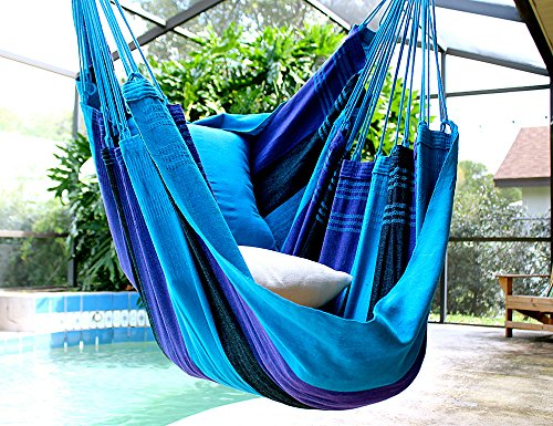 Deep Sea – Fine Cotton Hammock Chair, Made in Brazil