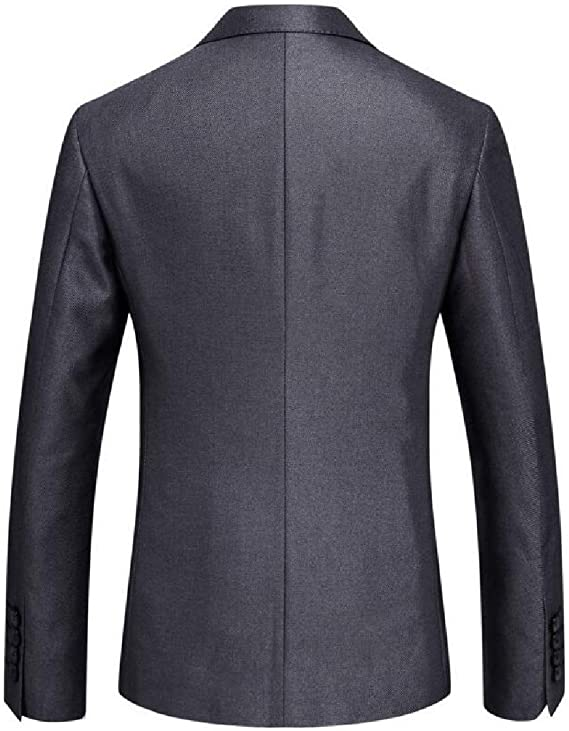 Yayu Mens Long Sleeve Two Button Suits Slim Fit Party Dress Suit Jacket Pants
