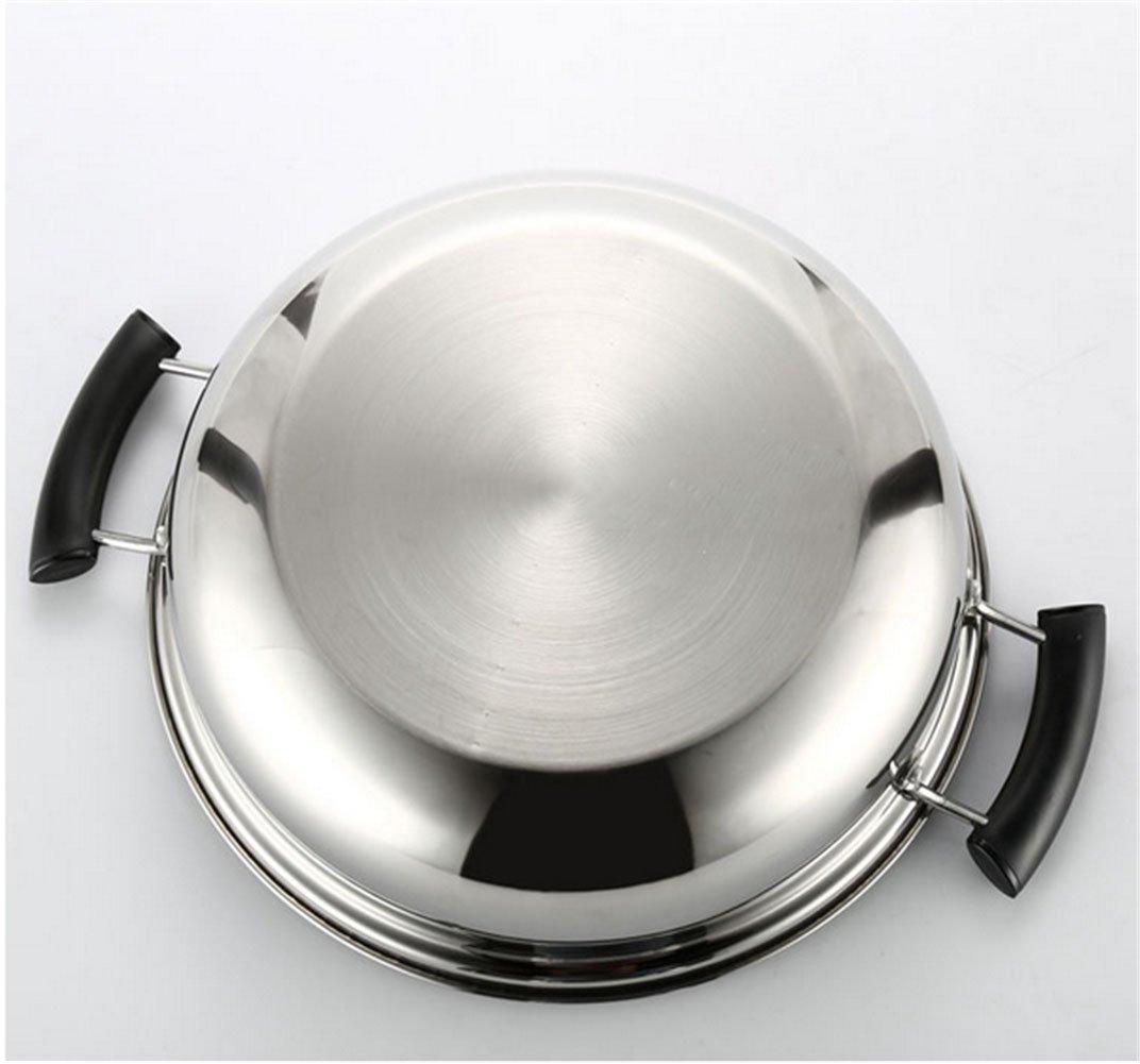 32cm Saucepans Mandarin Duck Pot Kitchen Casserole Soup Cooking Tool 2 Grid 2 Taste 28cm Fondue Pot Stainless Steel Hot Pot Self-Help Mandarin Duck PotSoup Pot Practical Handle Heatproof