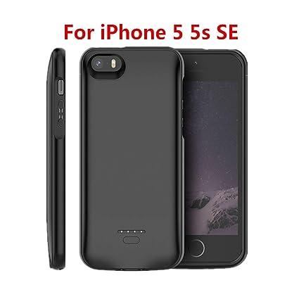 Amazon.com: 4000Mah Cargador de batería para iPhone 5S Se 5 ...