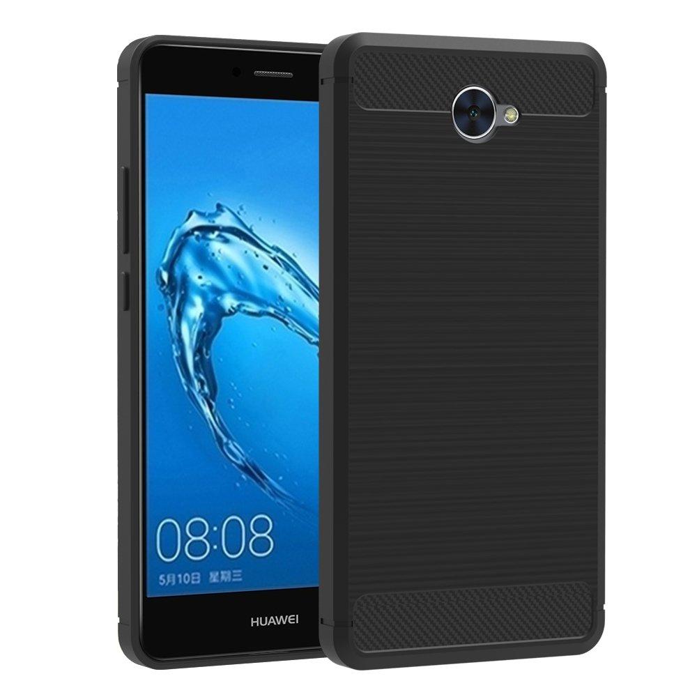 Funda Huawei Y iVoler Negro Súper TPU Silicona Carcasa Fundas Protectora con