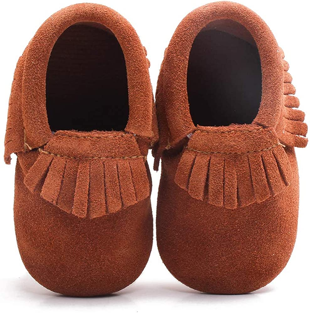 Baby Toddler Girls Boys Loafers Crib Shoes Slip-On Casual Soft Sole Slipper SML