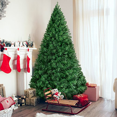 Best Choice Products 6ft Hinged Artificial Christmas Pine Tree Holiday Decoration w/ Metal Stand 1000 Tips Easy Assembly Green