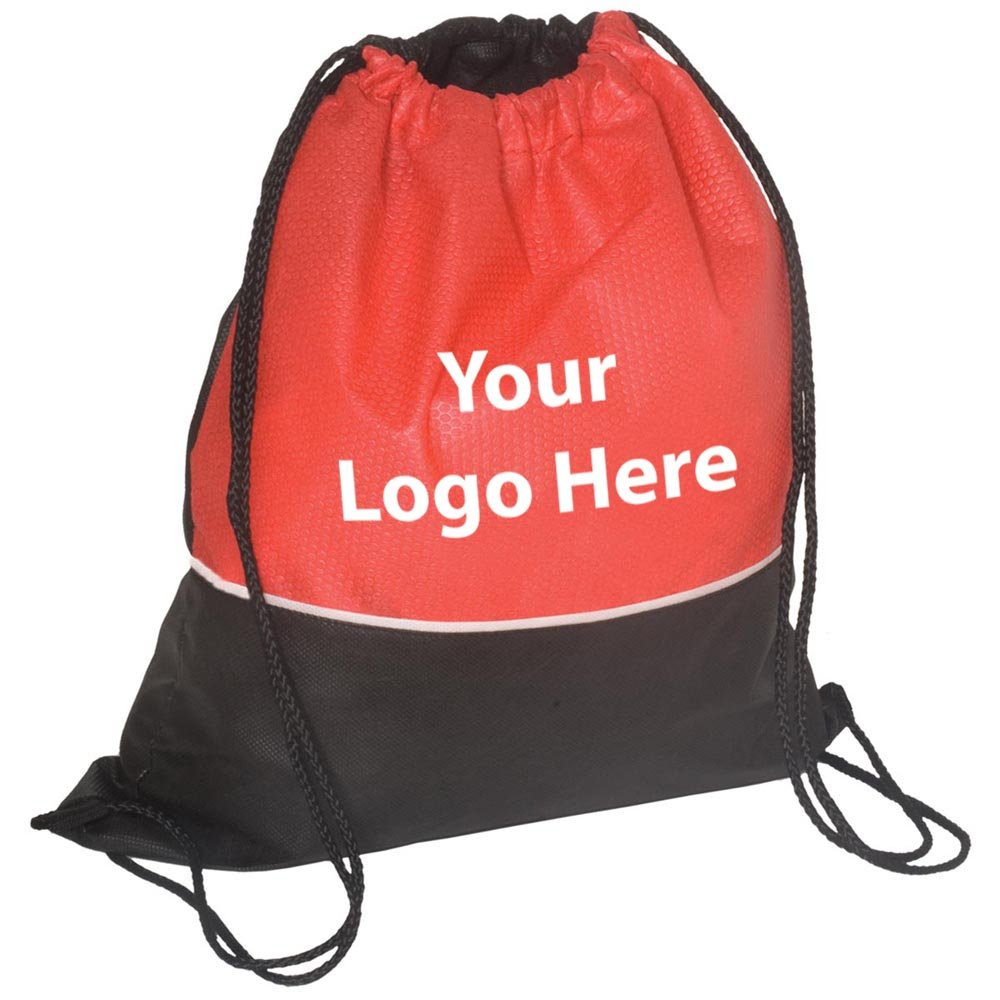 Textured String Backpack - 100 Quantity - $2.05 Each - PROMOTIONAL PRODUCT / BULK / Branded with YOUR LOGO / CUSTOMIZED by Sunrise Identity