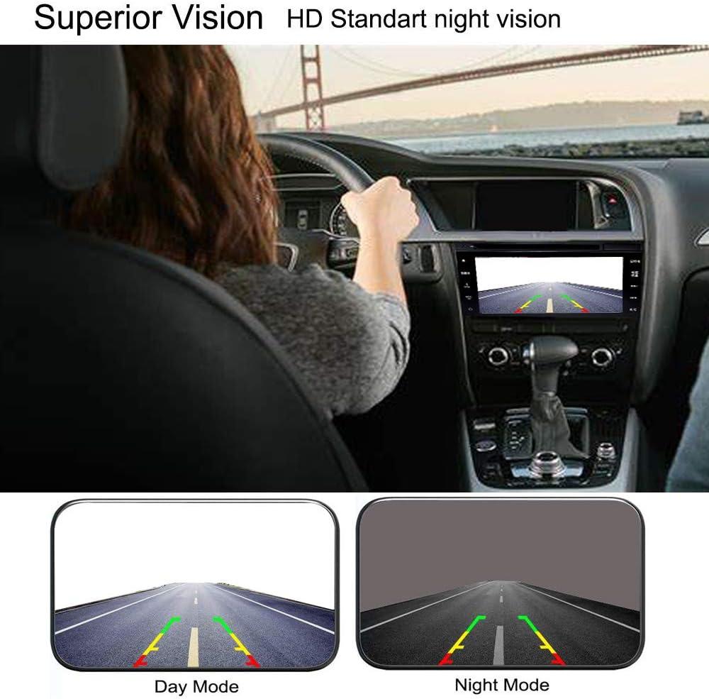 Front Rear View Car Camera Mougerk Front Backup Camera 170 Degree Wide Angle Waterproof 12 LED Nigh Vision Lights Reverse Cameras for 12V Cars